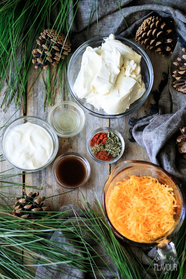 ingredients for hedgehog cheese ball