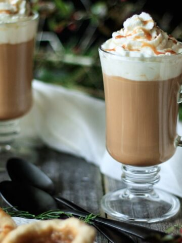 salted caramel mocha with spoons