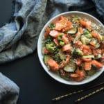 bowl of vegetable stir fry