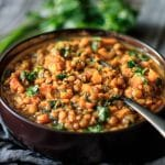 bowl of Moroccan lentil stew