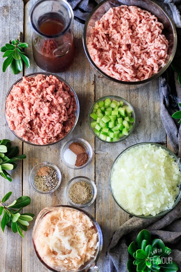 ingredients for French Canadian meat pie