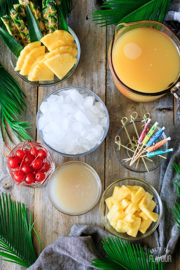 ingredients for piña colada