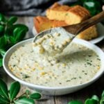 spoonful of sweet corn chowder