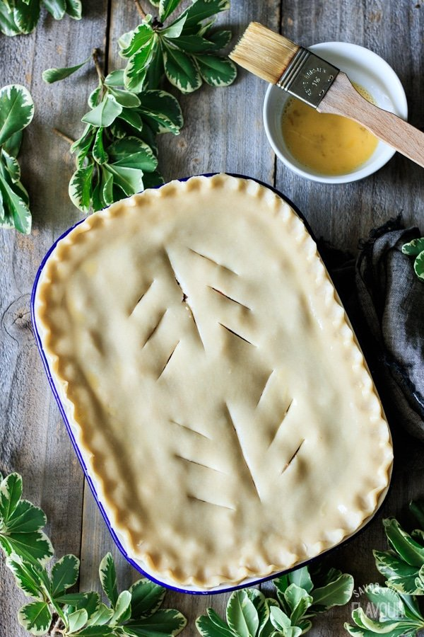 unbaked corned beef pie