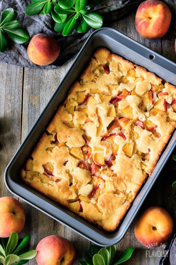 baked peach cobbler