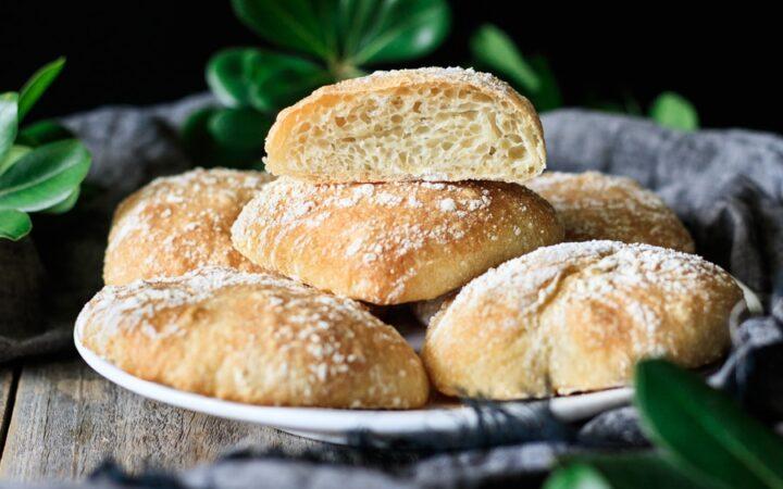 plate of ciabatta rolls