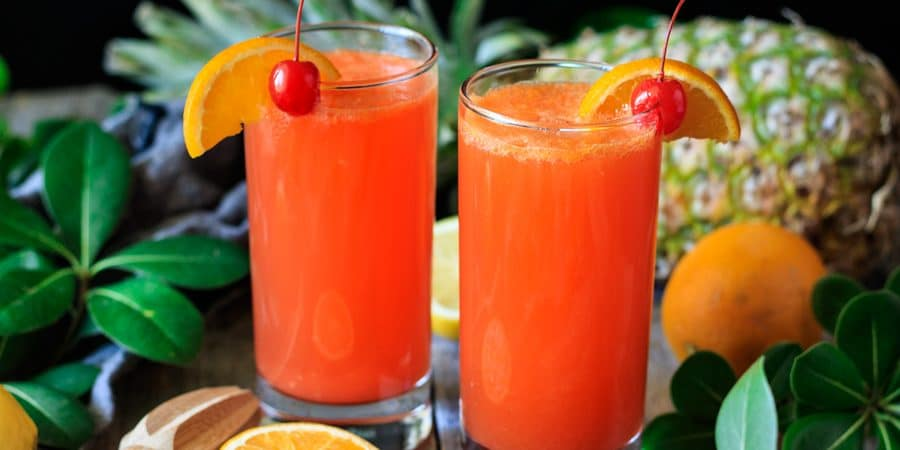 two glasses of Cinderella mocktail
