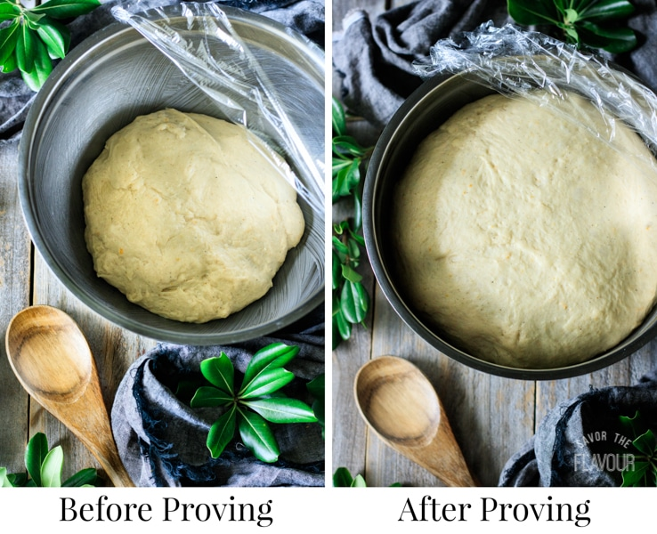 proving the dough for Swedish cardamom buns