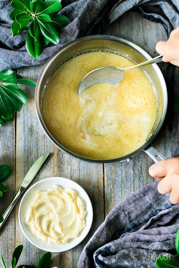 butter and lard mixture for Swedish cardamom buns