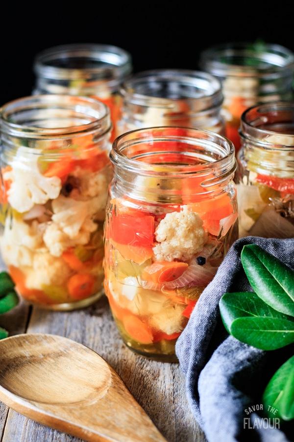 jars of giardiniera