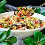 spoonful of olive salad for muffaletta