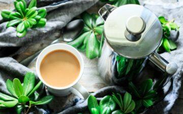 mug of French press coffee