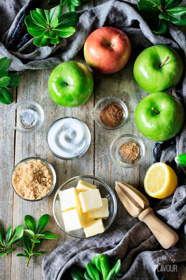 ingredients for fried apples