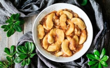 bowl of fried apples