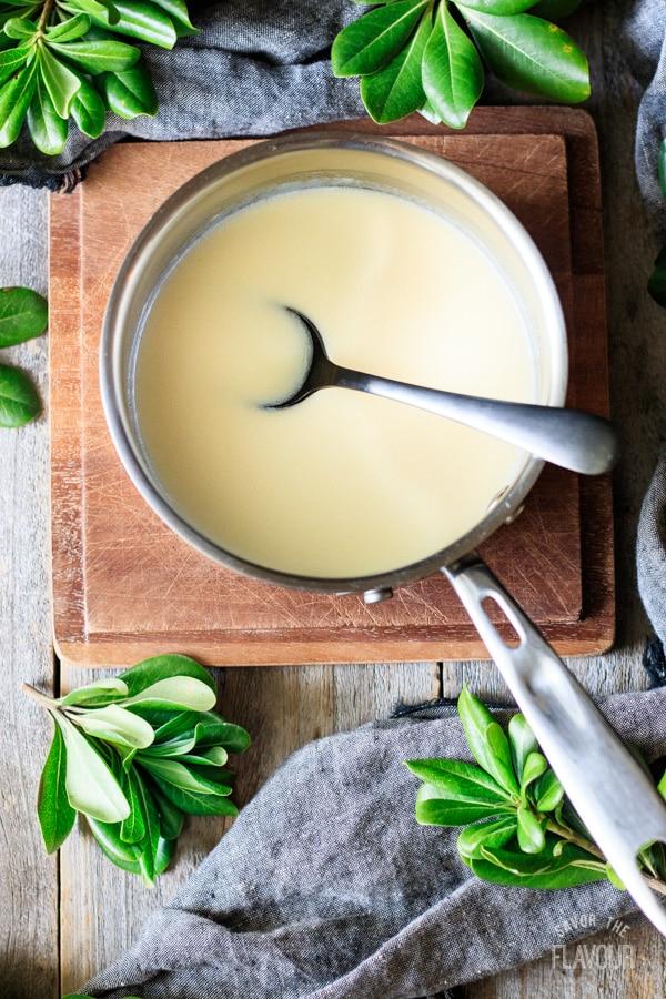butter and cream mixture for Hokkaido milk bread rolls