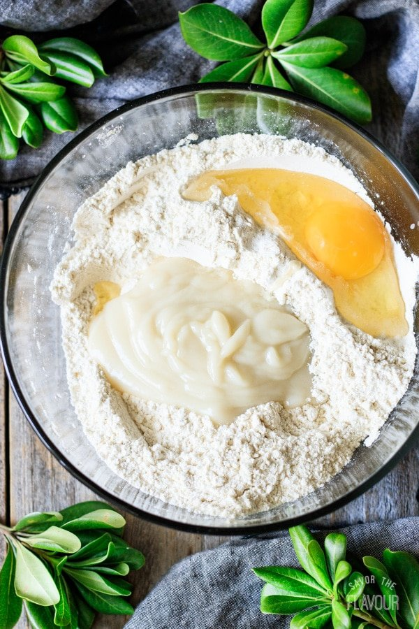 making the dough for Hokkaido milk bread rolls