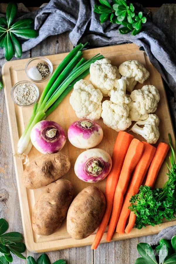 veggies for Woolton pie