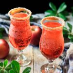 two glasses of sparkling apple cider mocktail
