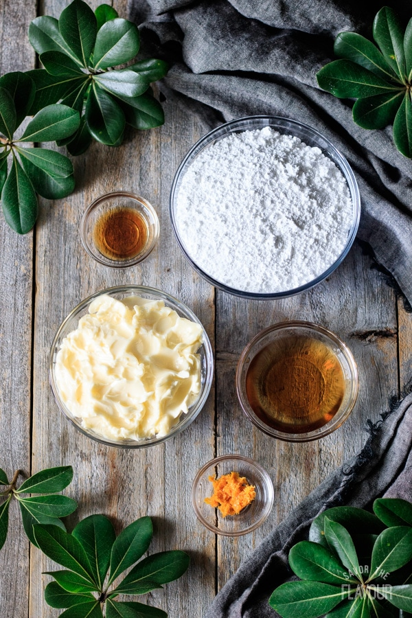 ingredients for brandy butter