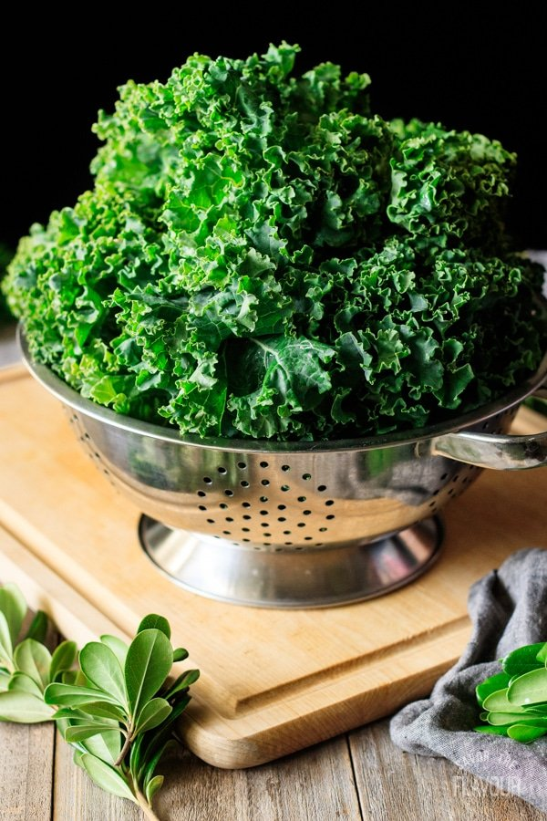 kale for Christmas wreath salad