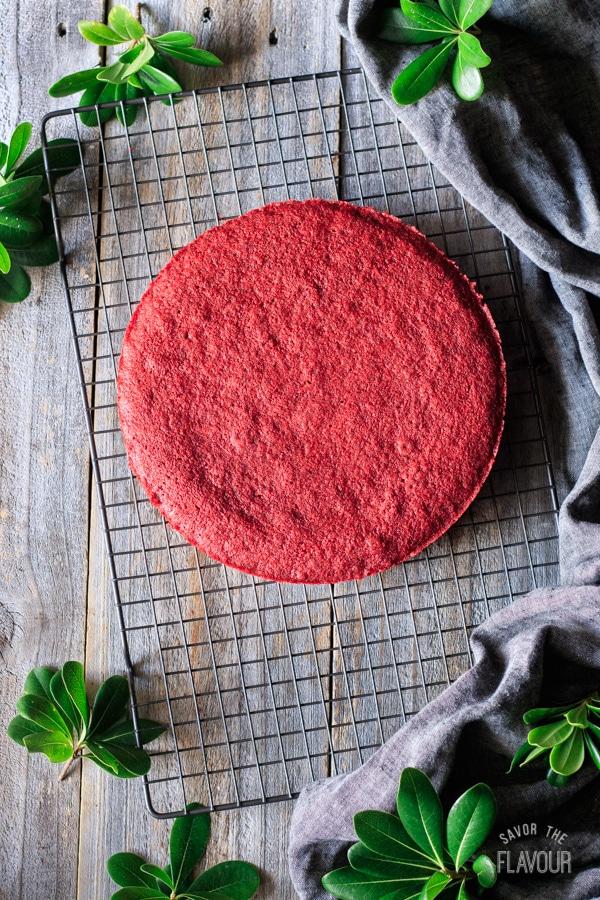 baked red velvet cake