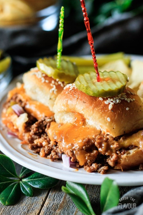 one of the sloppy joe sliders