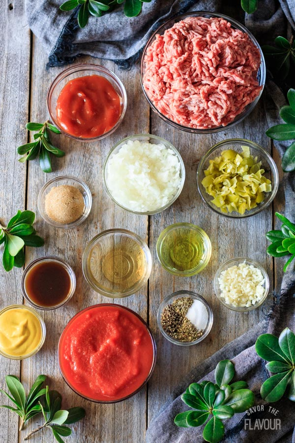 filling ingredients for sloppy joe sliders