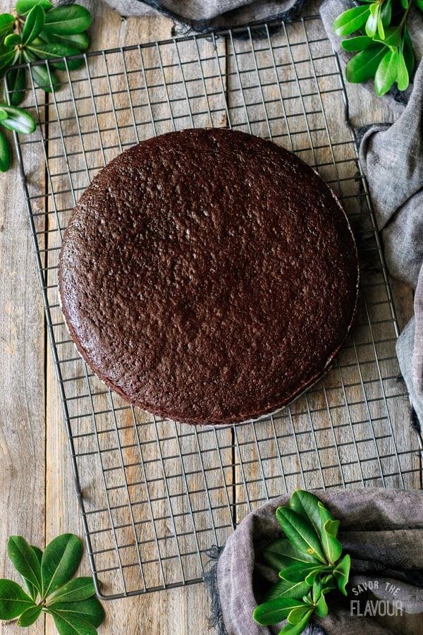 baked sour cream chocolate cake