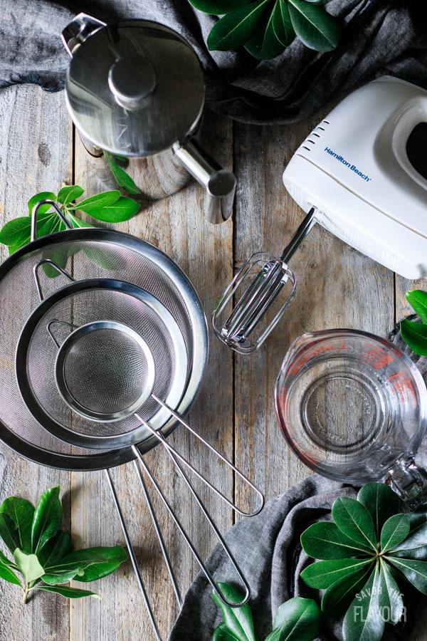 kitchen tools for making Irish coffee