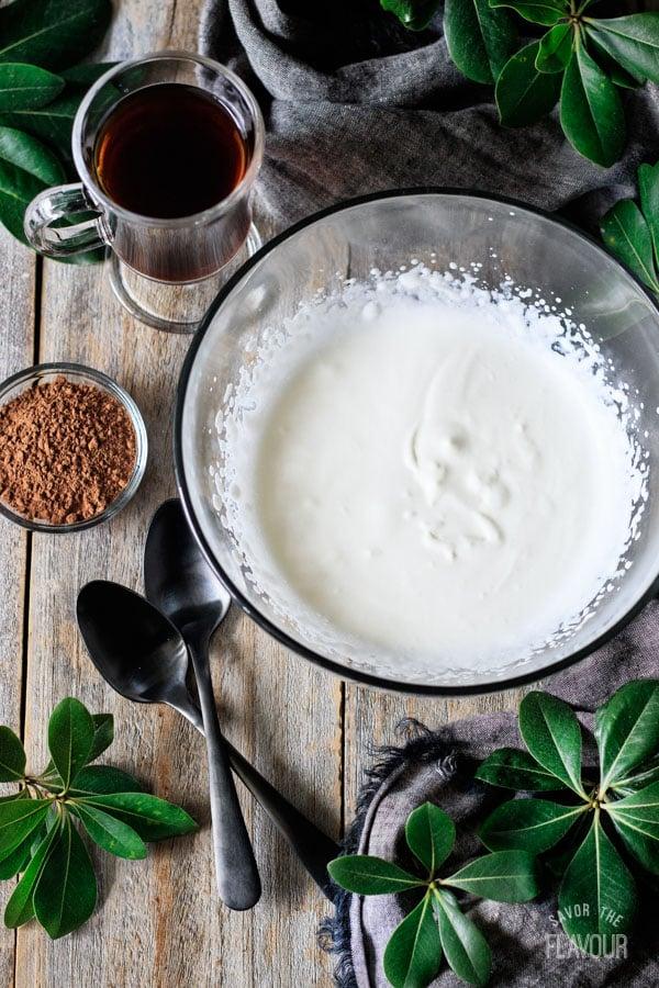 whipped cream for non alcoholic Irish coffee
