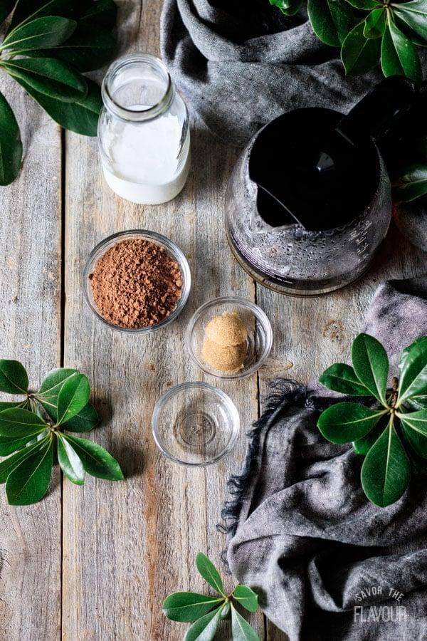ingredients for non alcoholic Irish coffee