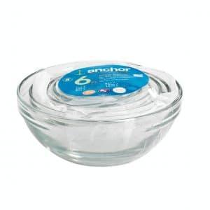 set of glass prep bowls