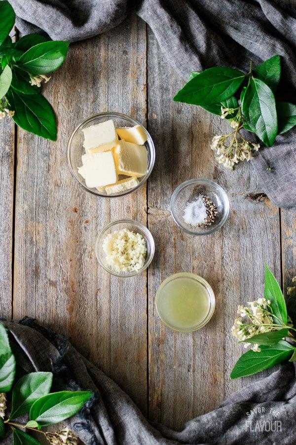 lemon garlic butter ingredients for roasted cabbage wedges