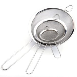 set of 3 kitchen strainers