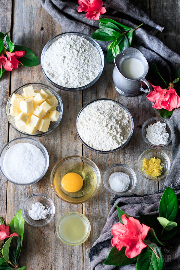 ingredients for lemon scones