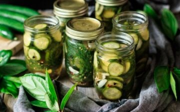 jars of refrigerator dill pickles