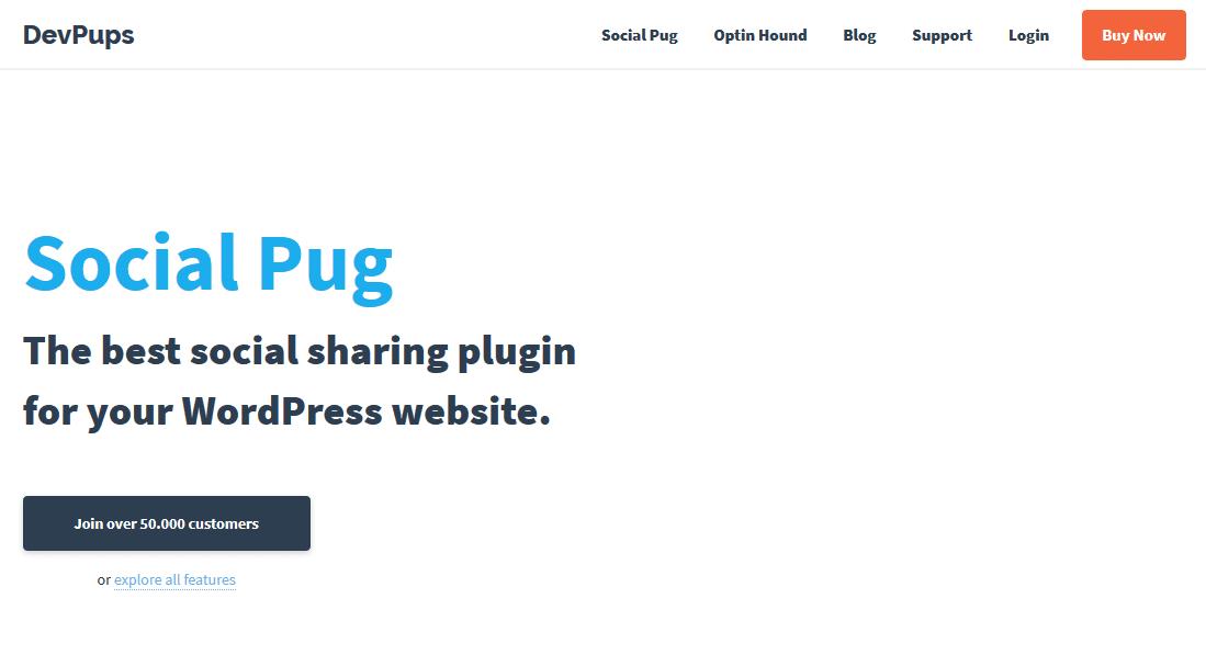 Social Pug website