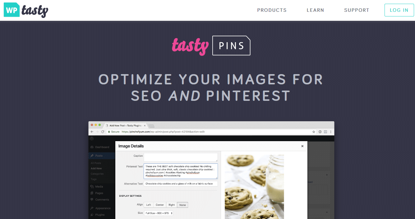 Tasty Pins website