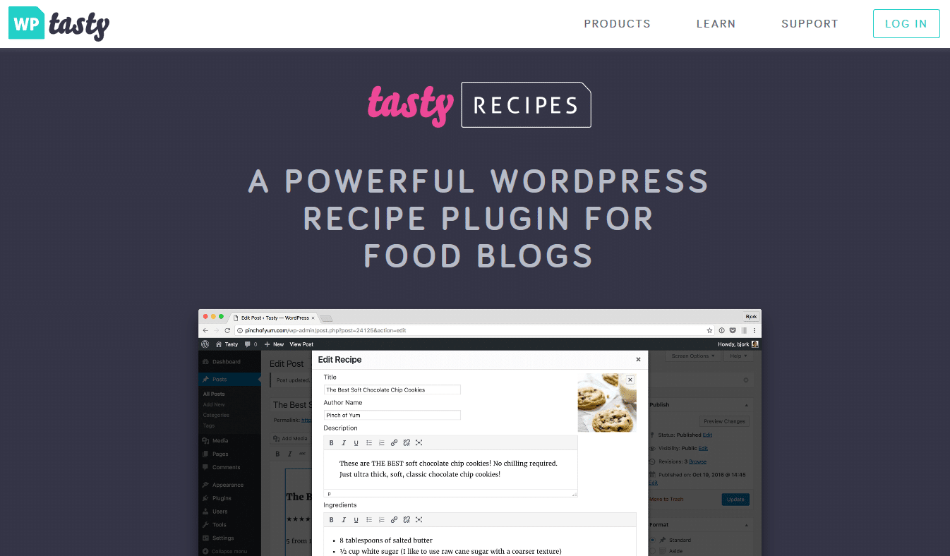 Tasty Recipes website
