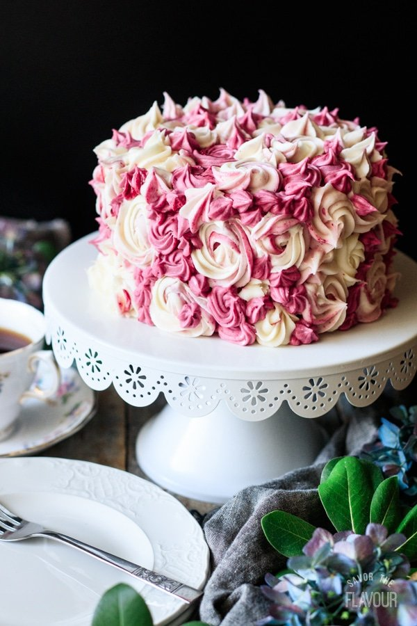 decorated lemon blueberry cake