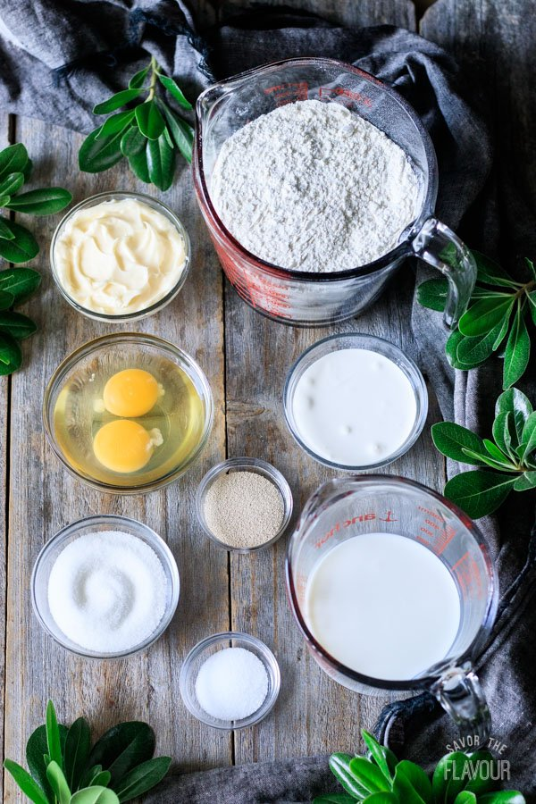 ingredients for sticky buns