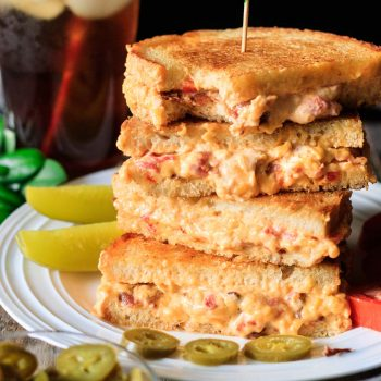 stack of pimento cheese sandwiches