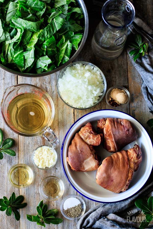 ingredients for collard greens