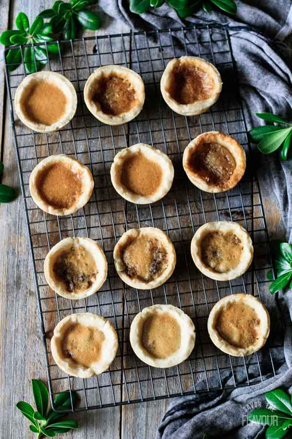butter tarts on a cooling rack