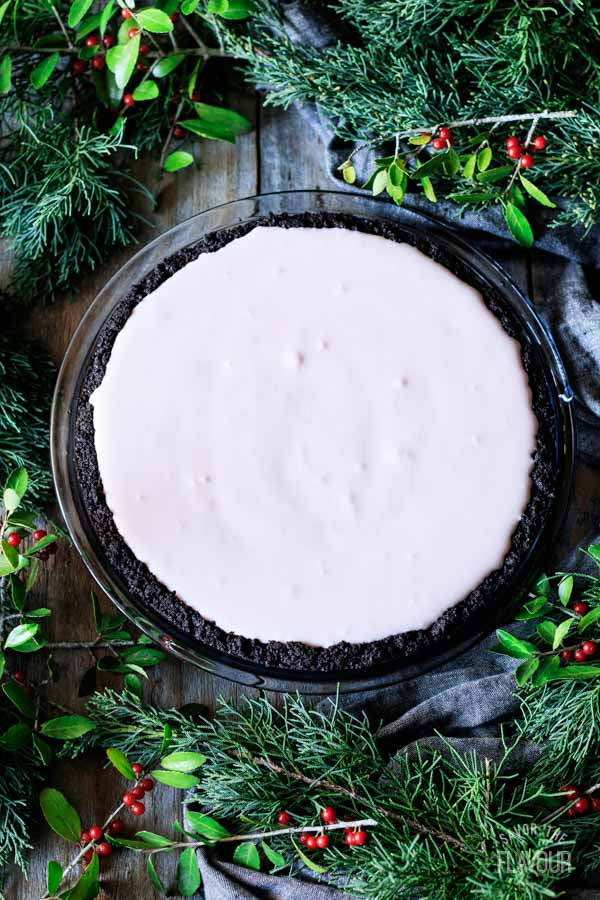 peppermint pie in an Oreo crust