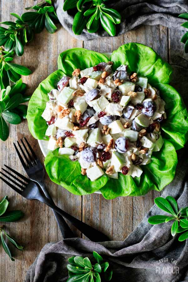 bowl of turkey Waldorf salad