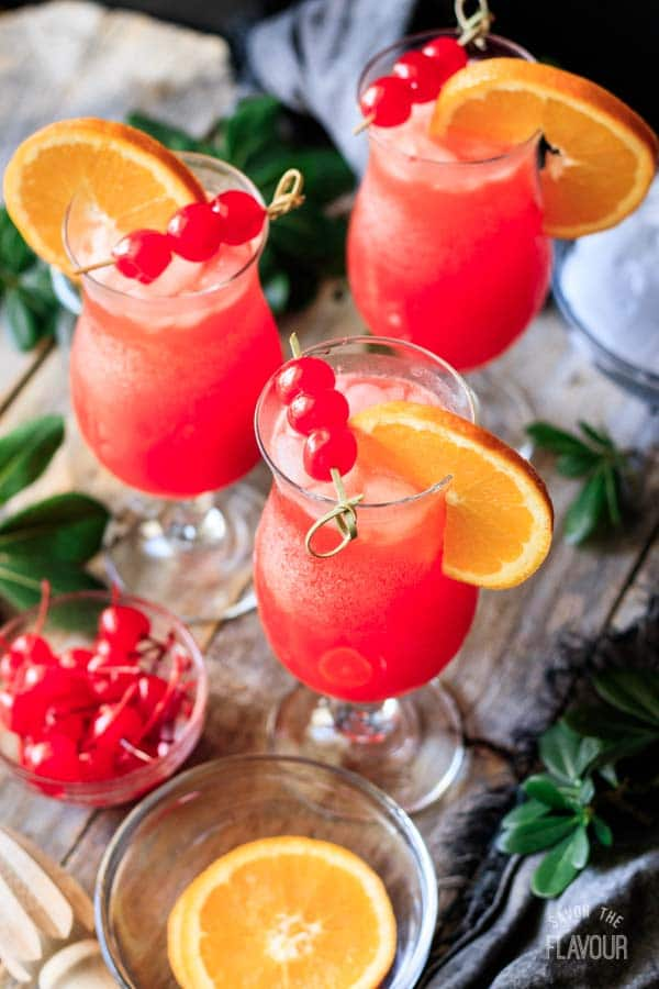 three hurricane mocktails