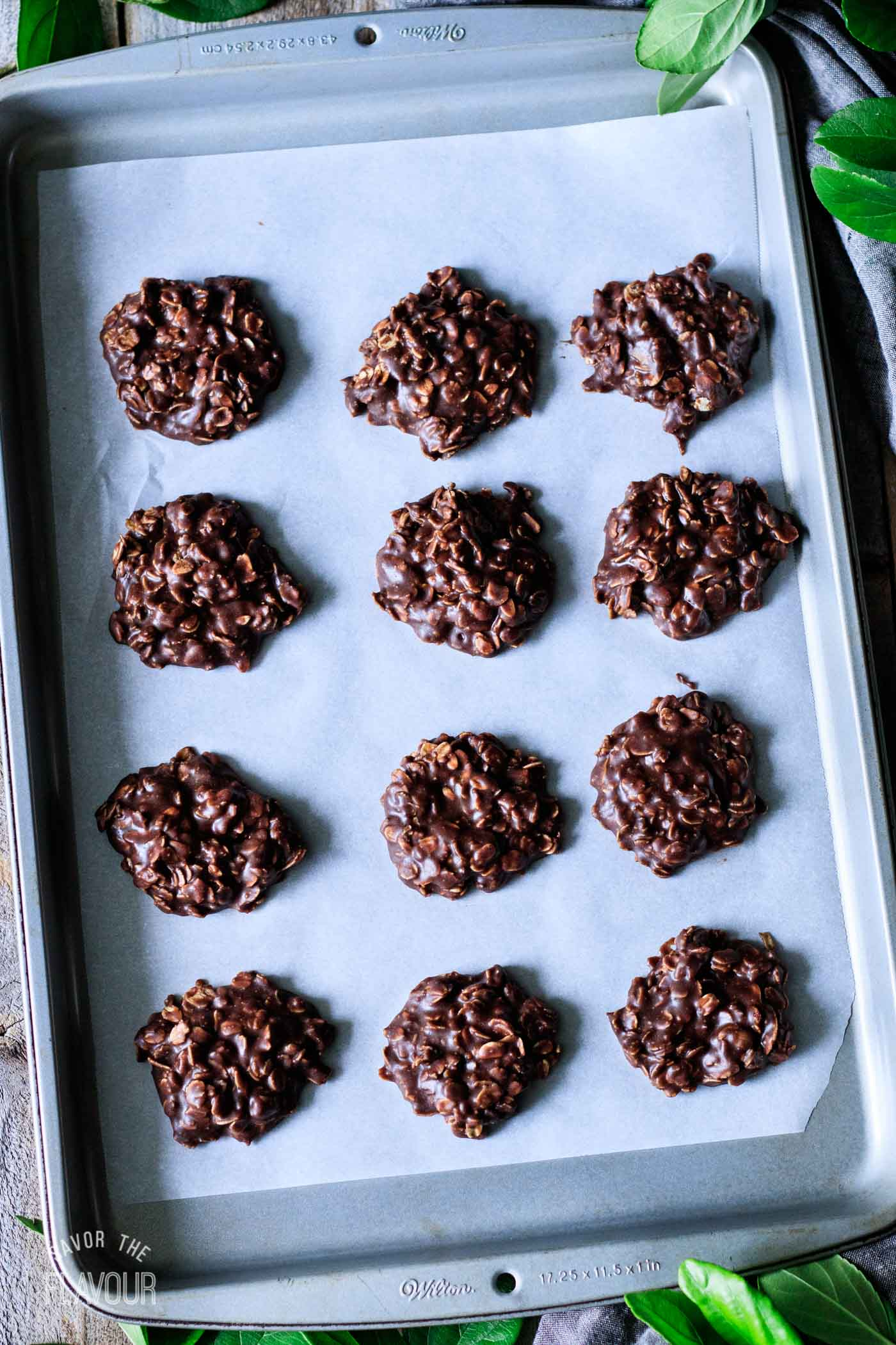 no bake chocolate oatmeal cookies after they've set