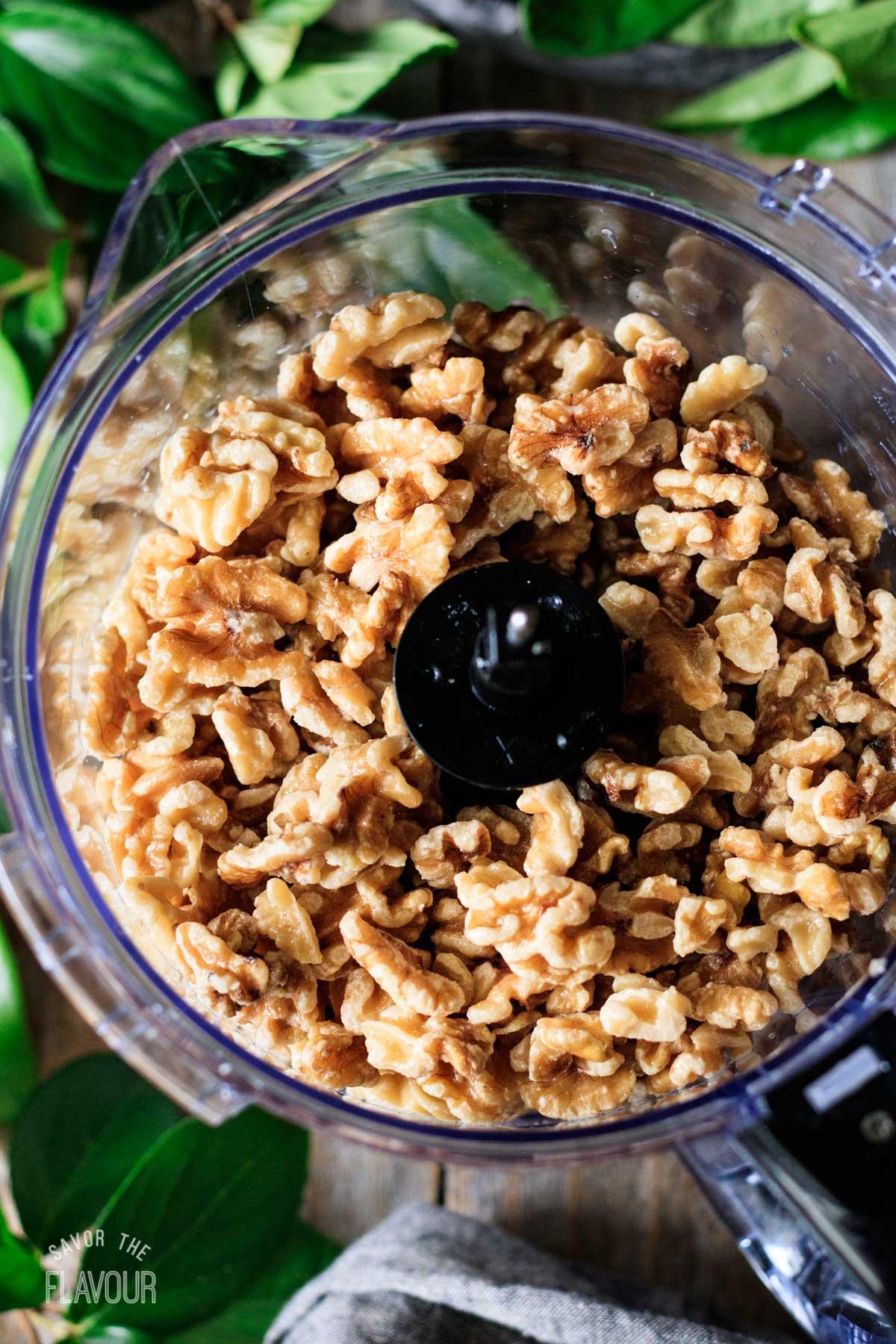 soaked walnuts in a food processor