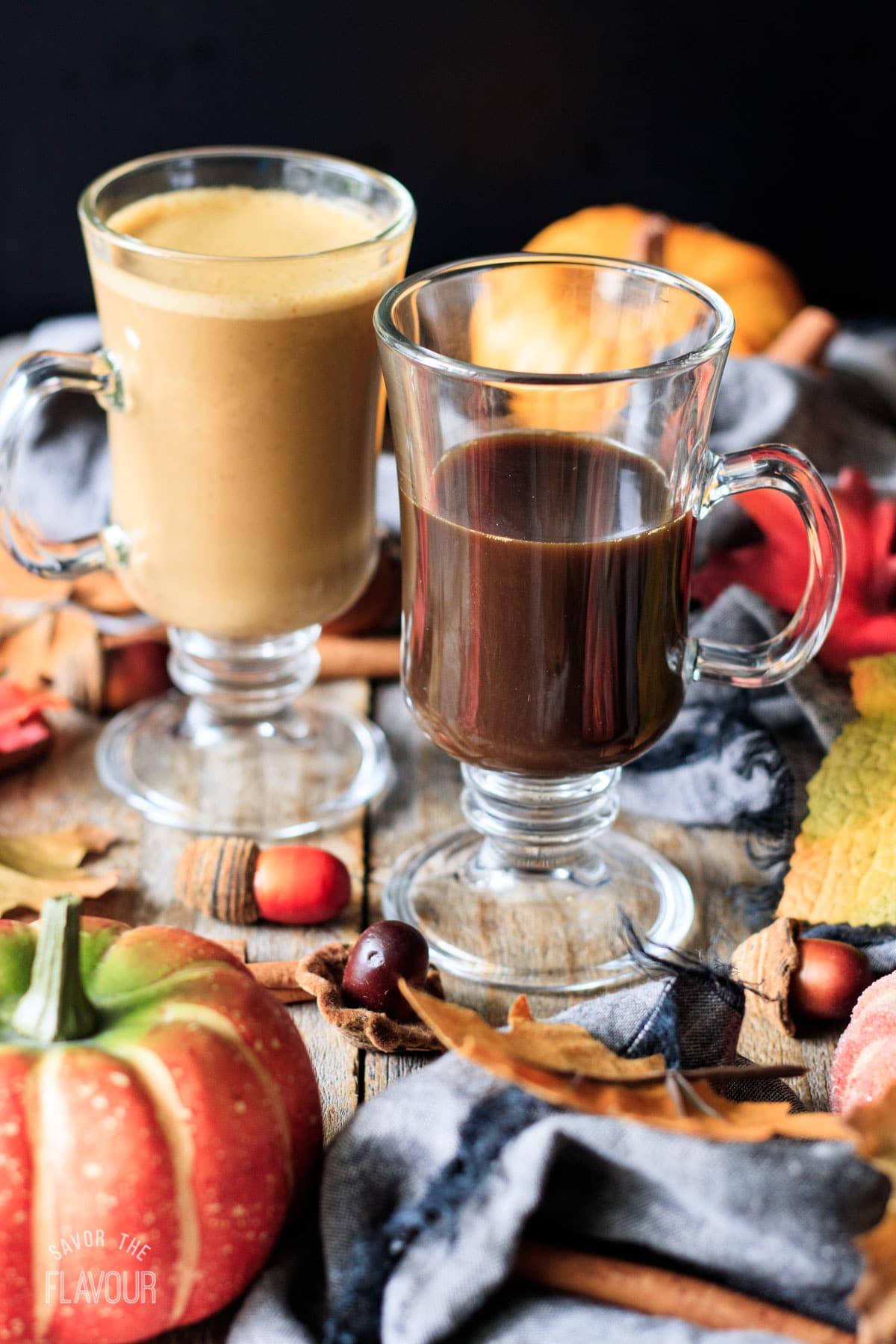 espresso in a glass mug